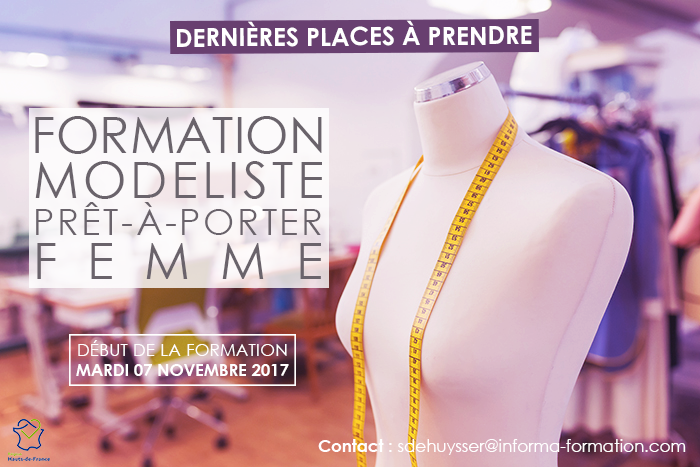 formation modeliste inscription