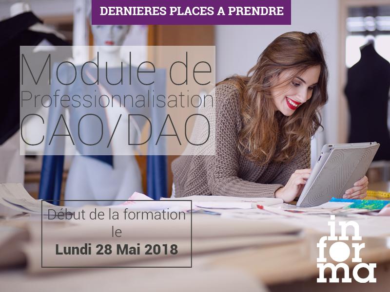 module de professionnalisation CAO DAO | Dernières places